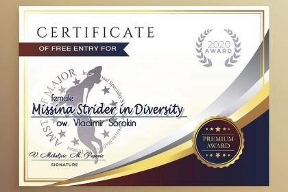 Сертификат на бесплатное участие в Anniversary Amstaff MAJOR!